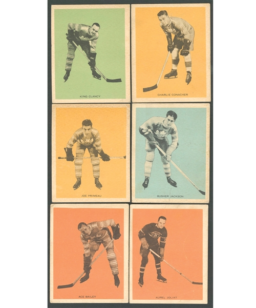 1933-34 Hamilton Gum (V288) Hockey Card Collection of 16 Including Conacher RC, Clancy, Joliat, Jackson RC, Bailey RC, Primeau RC and Horner RC