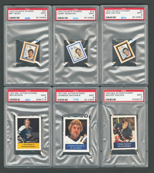 1968-81 O-Pee-Chee, Topps and Other Brands PSA-Graded Hockey Card Collection of 32 - Most Graded PSA NM-MT 8 or PSA MINT 9