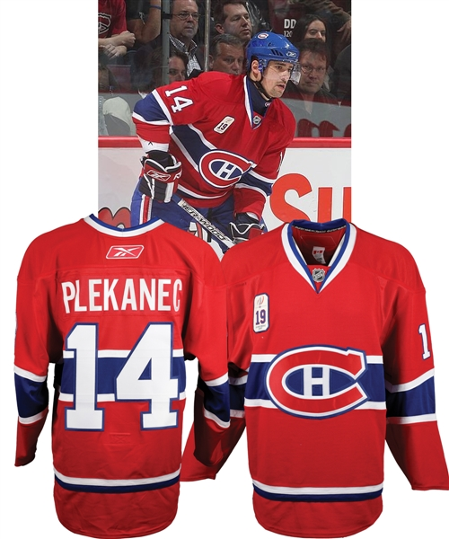 "Tomas Plekanecs 2007-08 Montreal Canadiens ""Larry Robinson Jersey Retirement Night"" Game-Worn Jersey"