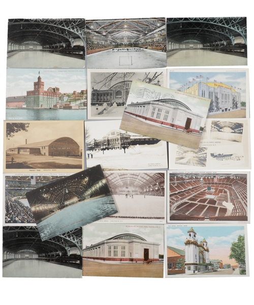 Vintage Early-1900s to 1950s Famous Hockey Arena/Venues Postcard Collection of 125