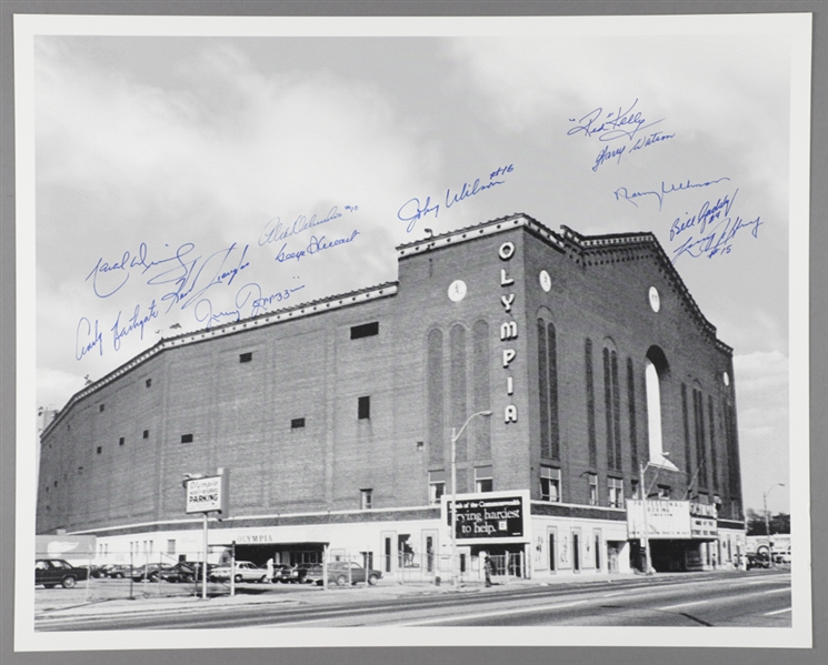 "Detroit Olympia Photo Signed by 12 Former Detroit Red Wings Players with LOA (16"" x 20"")"