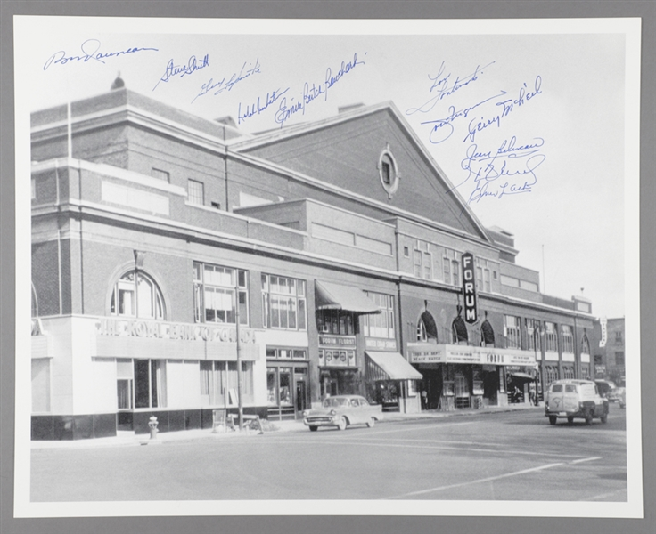 "Montreal Forum Photo Signed by 11 Former Montreal Canadiens Players with LOA (16"" x 20"")"