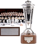Bryan Trottiers 1991-92 Pittsburgh Penguins Prince of Wales Championship Trophy with Family LOA