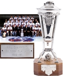 Bryan Trottiers 1982-83 New York Islanders Prince of Wales Championship Trophy with Family LOA