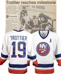 "Bryan Trottiers 1989-90 New York Islanders ""500th Goal"" Game-Worn Alternate Captains Jersey with Family LOA - Photo-Matched!"
