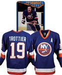 Bryan Trottiers 1989-90 New York Islanders Game-Worn Alternate Captains Away Jersey with Family LOA - Photo-Matched!