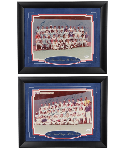 1982 MLB American League and National League All-Stars Team-Signed Framed Photos with JSA LOAs