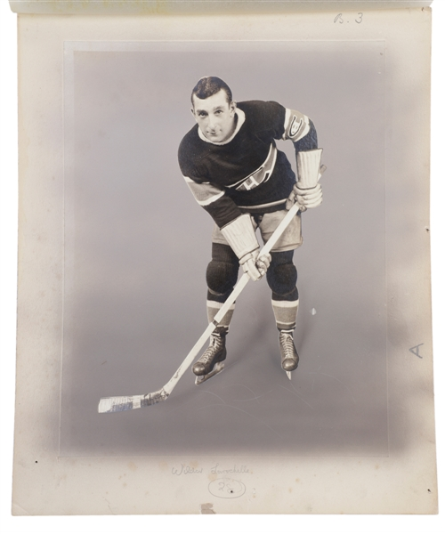 Wildor Larochelle 1933-34 World Wide Gum Ice Kings V357 Original Hockey Card Production Artwork