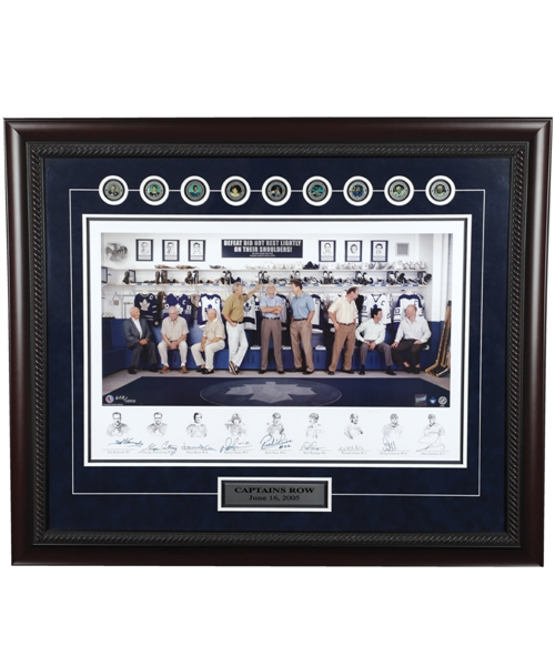 "Toronto Maple Leafs ""Captains Row"" Multi-Signed Framed Limited-Edition Lithograph (31"" x 37"")"