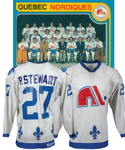 Paul Stewarts 1979-80 Quebec Nordiques Inaugural NHL Season Game-Worn Jersey