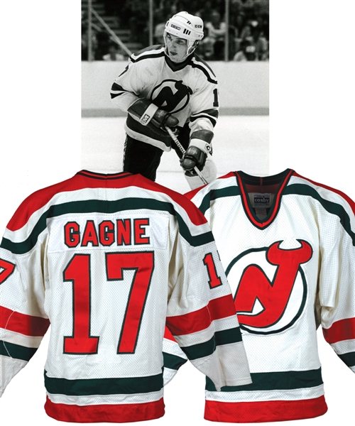 Paul Gagnes 1983-84 New Jersey Devils Game-Worn Jersey with LOA