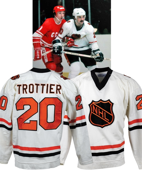 Bryan Trottiers 1979 Challenge Cup NHL All-Stars Game-Worn Jersey with LOA - Photo-Matched!