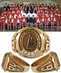Ray Bourques 1984 Canada Cup 10K Gold and Diamond Ring with His Signed LOA