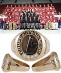 Ray Bourques 1987 Canada Cup 10K Gold and Diamond Ring with His Signed LOA