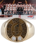 Ray Bourques Rendez-Vous 87 NHL All-Stars Vs USSR 10K Gold and Diamond Ring with His Signed LOA