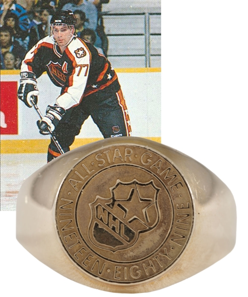 Ray Bourques 1989 NHL All-Star Game 10K Gold and Diamond Ring with His Signed LOA