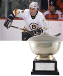 "Ray Bourques 1984-85 ""Bruins Radio Network Three Star Award"" First Star Trophy with His Signed LOA (16"")"