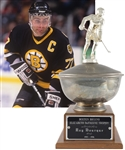 "Ray Bourques 1995-96 Boston Bruins Elizabeth DuFresne Trophy with His Signed LOA (19"")"