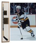 "Ray Bourques 1991-92 Boston Bruins ""1,000th NHL Point"" Game-Used Stick in Display Case with His Signed LOA"