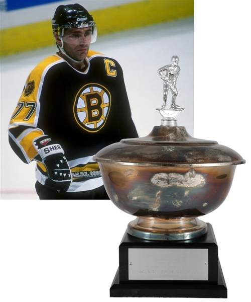 "Ray Bourques 1996-97 ""Bruins Radio Network Three Star Award"" First Star Trophy with His Signed LOA (15 ½"")"