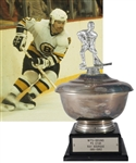 "Ray Bourques 1981-82 ""WITS Bruins Radio Network Three Star Award"" Third Star Trophy with His Signed LOA (13"")"