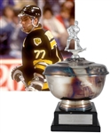 "Ray Bourques 1990-91 ""Bruins Radio Network Three Star Award"" Second Star Trophy with His Signed LOA (15"")"
