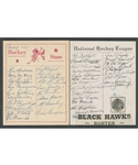 Chicago Black Hawks 1944-45 and 1950-51 Team-Signed Sheets Including 11 Deceased HOFers from the E. Robert Hamlyn Collection