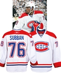P.K. Subbans 2009-10 Montreal Canadiens Game-Worn Pre-Rookie Season Jersey with Team LOA - 1st Regular Season Jersey Worn by Subban! - 1st Point/1st Goal Jersey! - Photo-Matched to Playoffs!