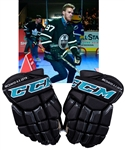 Connor McDavids 2019 NHL Skills Showdown Event-Worn CCM Gloves with Team LOA