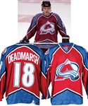 Adam Deadmarshs 1996-97 Colorado Avalanche Game-Worn Jersey with LOA