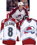 Teemu Selannes 2003-04 Colorado Avalanche Game-Worn Jersey with LOA - Photo-Matched!