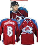 "Kevin Shattenkirk's 2010-11 Colorado Avalanche ""NHL Debut - 1st NHL Goal"" Game-Worn Rookie Season Jersey with Team LOA - Photo-Matched!"