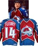 Theoren Fleurys 1998-99 Colorado Avalanche Signed Game-Worn Jersey with Team COA - CHS Patch! - Photo-Matched!
