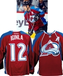 Jarome Iginlas 2014-15 Colorado Avalanche Game-Worn Alternate Captains Jersey with Team COA - Photo-Matched!