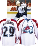 "Nathan MacKinnons 2013-14 Colorado Avalanche ""1st NHL Goal"" Game-Worn Rookie Season Jersey with Team LOA - Team Repairs! - Photo-Matched!"