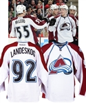 "Gabriel Landeskogs 2011-12 Colorado Avalanche ""1st NHL Goal - 1st NHL Point"" Game-Worn Rookie Season Jersey with LOA - Team Repairs! - Photo-Matched!"