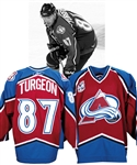 Pierre Turgeons 2005-06 Colorado Avalanche Game-Worn Jersey with Team LOA - 10th Season Patch! - Photo-Matched!