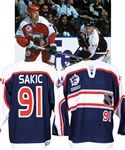 Joe Sakic's 2000 NHL All-Star Game North America All-Stars Signed Photo-Shoot Worn Jersey