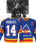 Rene Robert's 1979-80 Colorado Rockies Game-Worn Captains Jersey - Team Repairs! - Photo-Matched!