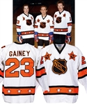 Bob Gaineys 1980 NHL All-Star Game Wales Conference Game-Worn Jersey from His Personal Collection with His Signed LOA