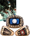 Bob Gaineys 1975-76 Montreal Canadiens Stanley Cup Championship 10K Gold and Diamond Ring from His Personal Collection with His Signed LOA
