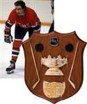 Bob Gaineys 1980-81 Montreal Canadiens Frank J. Selke Trophy Plaque from His Personal Collection with His Signed LOA