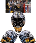 Joe Howe's 2012-13 Colorado College Tigers Game-Worn Shark 954 Goalie Mask – Worn in the 2013 WCHA Mens Ice Hockey Tournament! - Photo-Matched!