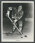 Chicago Black Hawks Vintage-Signed Photos (4) Including Keith Magnuson, Wayne Maki, Tony Esposito and Stan Mikita