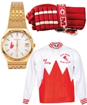 Bob Gaineys International Hockey Memorabilia Collection Including 1981 Canada Cup Team Canada Watch, Jacket, Team Photo, Game-Used Glove and Much More from His Personal Collection with His Signed LOA