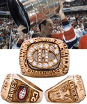 Bob Gaineys 1985-86 Montreal Canadiens Stanley Cup Championship 10K Gold and Diamond Ring from His Personal Collection with His Signed LOA