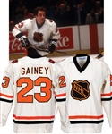 Bob Gaineys 1979 Challenge Cup NHL All-Stars Game-Worn Jersey from His Personal Collection with His Signed LOA