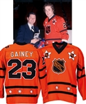 Bob Gaineys 1977 NHL All-Star Game Wales Conference Game-Worn Jersey from His Personal Collection with His Signed LOA