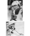 Wayne Gretzky 1979-80 Edmonton Oilers B&W and Color 35mm Photo Slide Collection of 72