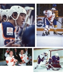 Wayne Gretzky 1980-88 Edmonton Oilers / Team Canada B&W and Color 35mm Photo Slide Collection of 250